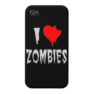 i love zombies iPhone 4/4S cases