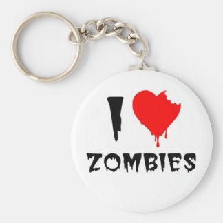 i love zombies key chains