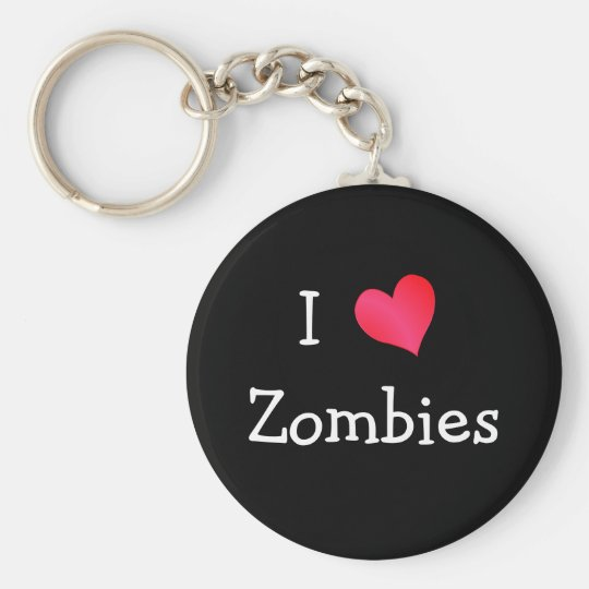 I Love Zombies Keychain