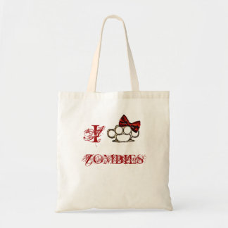 I Love Zombies - KnuckleBow Tote Bag