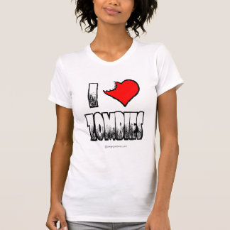 I Love Zombies Ladies Basic T-shirt
