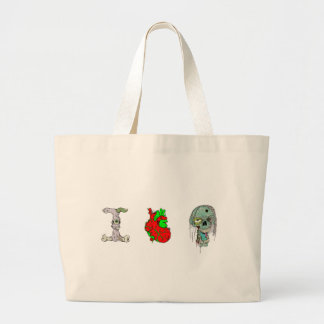 I Love Zombies!! Large Tote Bag