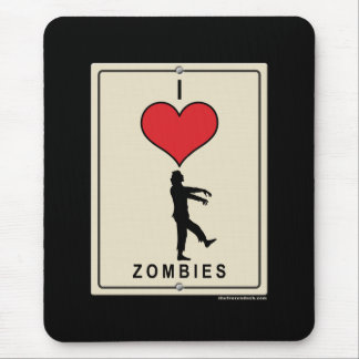 I Love Zombies Mouse Pad