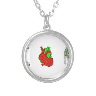 I Love Zombies!! Round Pendant Necklace