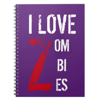 I Love Zombies Notebook