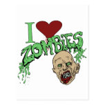 I Love Zombies Post Cards