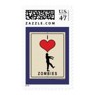 I Love Zombies Postage