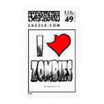 I Love Zombies Postage Stamps