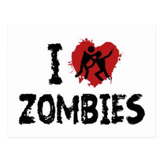 I Love Zombies Postcards