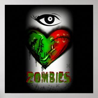 I love Zombies Print