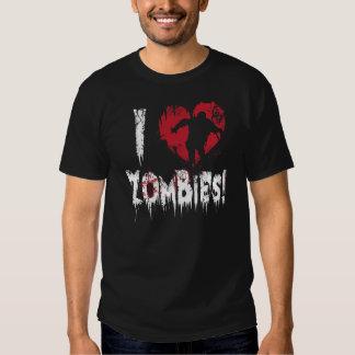 I Love Zombies Shirt