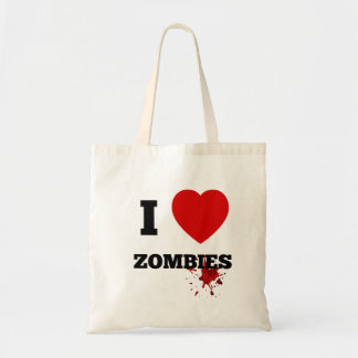 I love zombies tote bag