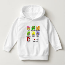 I Love Zoo Animals Toddler Pullover Hoodie