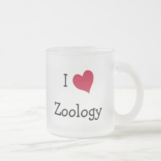 I Love Zoology Frosted Glass Coffee Mug