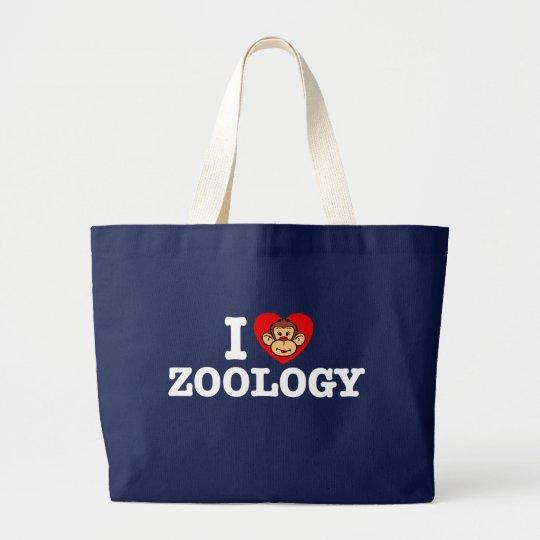 I Love Zoology Large Tote Bag
