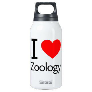 I Love Zoology 10 Oz Insulated SIGG Thermos Water Bottle