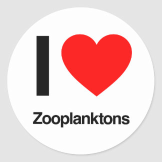 i love zooplanktons classic round sticker