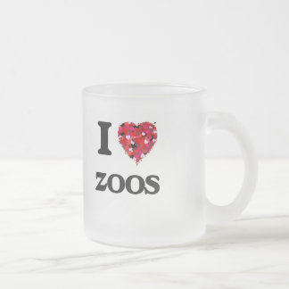 I love Zoos 10 Oz Frosted Glass Coffee Mug