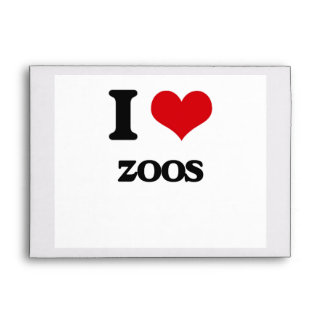 I love Zoos Envelopes