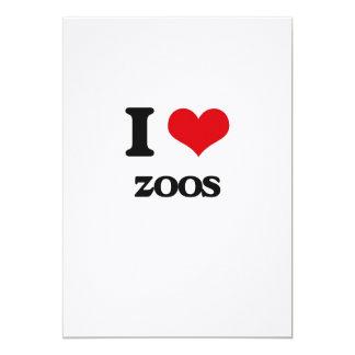 I love Zoos 5x7 Paper Invitation Card