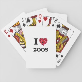 I love Zoos Poker Cards