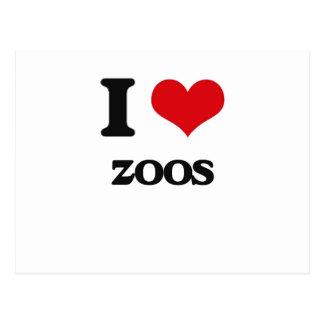 I love Zoos Postcard