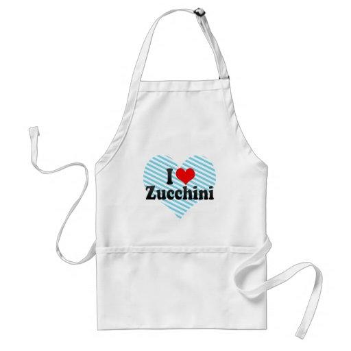 I Love Zucchini Adult Apron