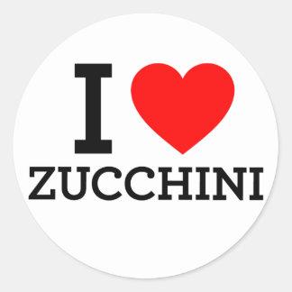 I Love Zucchini Classic Round Sticker