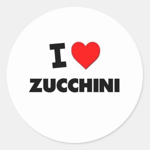 I Love Zucchini ( Food ) Stickers