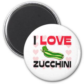 I Love Zucchini Magnet