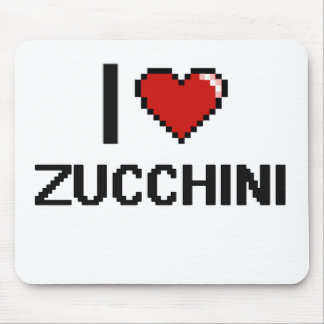 I Love Zucchini Mouse Pad