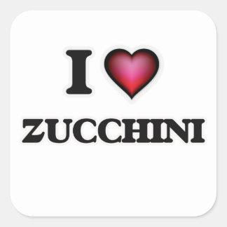 I Love Zucchini Square Sticker