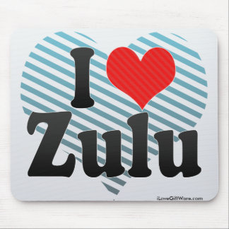 I Love Zulu Mouse Pads
