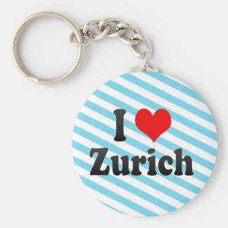 I Love Zurich, Switzerland Keychain