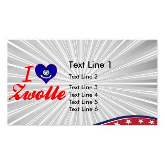 I Love Zwolle, Louisiana Business Card Templates