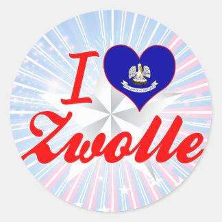 I Love Zwolle, Louisiana Round Stickers