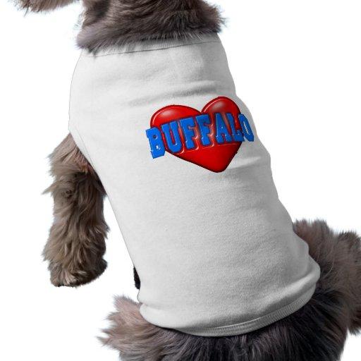 I LoveBuffalo Camisa De Perro