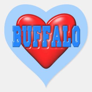 I LoveBuffalo Heart Sticker