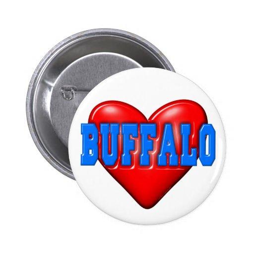 I LoveBuffalo Pinback Button