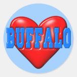 I LoveBuffalo Round Sticker