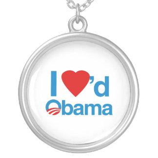 I Loved Obama Round Pendant Necklace