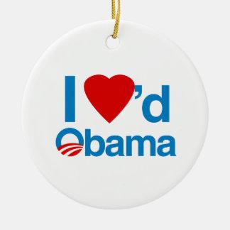 I Loved Obama Ornament