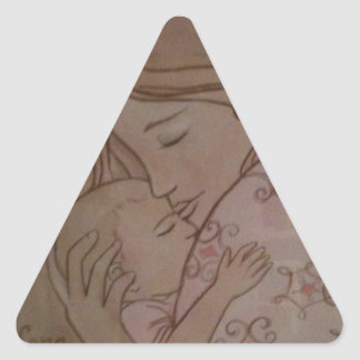 I loved you before I met you Triangle Sticker