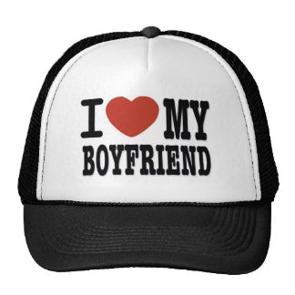 I LOVEMY BOYFRIEND TRUCKER HAT