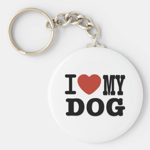 I LOVEMY DOG KEYCHAINS