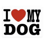 I LOVEMY DOG POST CARDS