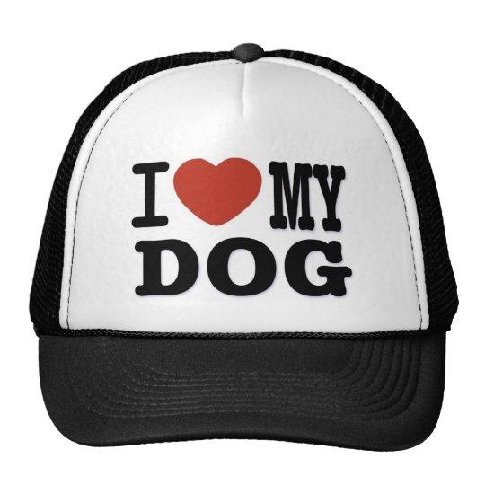 I LOVEMY DOG TRUCKER HAT
