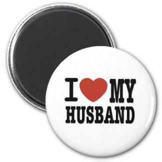 I LOVEMY HUSBAND 2 INCH ROUND MAGNET