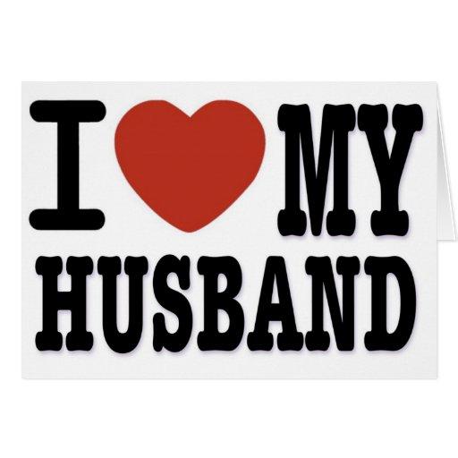 I LOVEMY HUSBAND GREETING CARDS