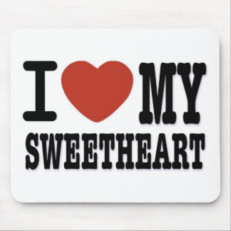 I LOVEMY SWEETHEART MOUSE PAD